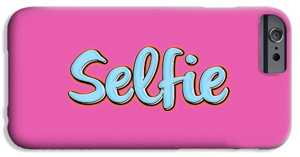 Selfie Tee IPhone Case by Edward Fielding