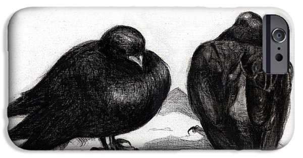 Serious Pigeon Situation IPhone Case by Nancy Moniz