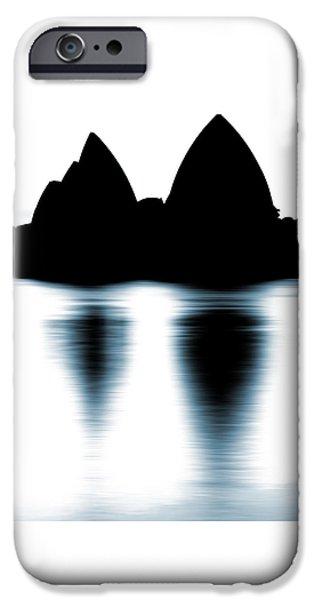 Shaded Peaks  IPhone Case by Az Jackson