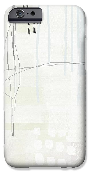 Shades Of White 1 - Art By Linda Woods IPhone Case by Linda Woods