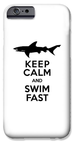 Sharks Keep Calm And Swim Fast IPhone 6s Case by Antique Images
