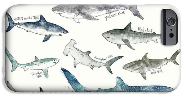 Sharks - Landscape Format IPhone 6s Case by Amy Hamilton