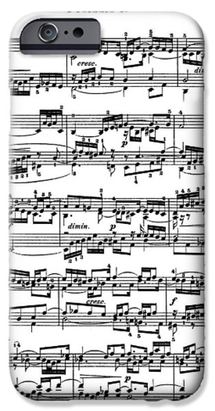 Sheet Music Prelude IPhone Case by Philip Ralley