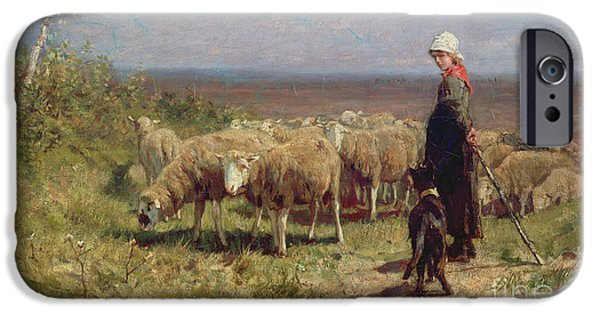 Shepherdess IPhone Case by Anton Mauve