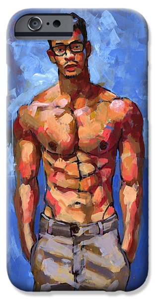 Shirtless With Glasses IPhone Case by Douglas Simonson