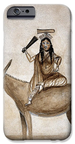 Shitala Mara, Hindu Goddess Of Smallpox IPhone Case by Wellcome Images