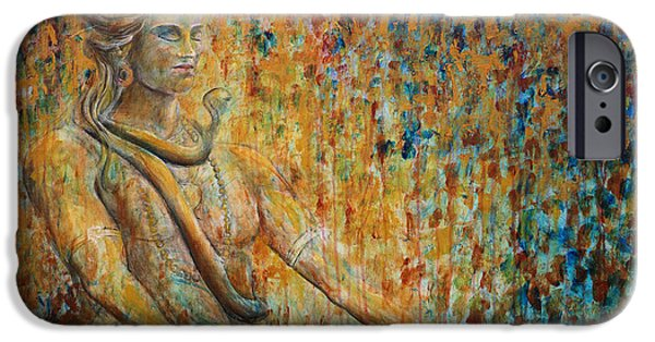 Shiva Meditation 2 IPhone Case by Nik Helbig