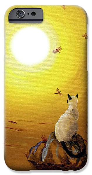 Siamese Cat With Red Dragonflies IPhone 6s Case by Laura Iverson