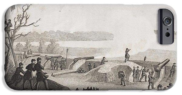 Siege Of Yorktown Virginia 1862. Drawn IPhone Case by Vintage Design Pics