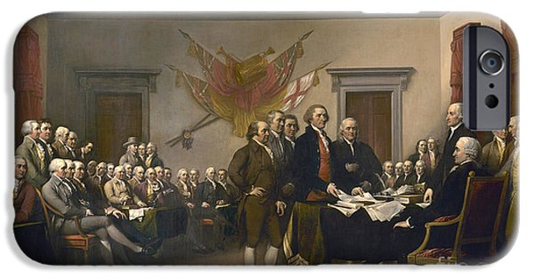 Signing The Declaration Of Independence, July 4th, 1776 IPhone Case by John Trumbull