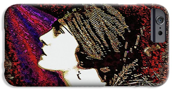 Silent Movie Star - Gloria Swanson IPhone Case by Ian Gledhill