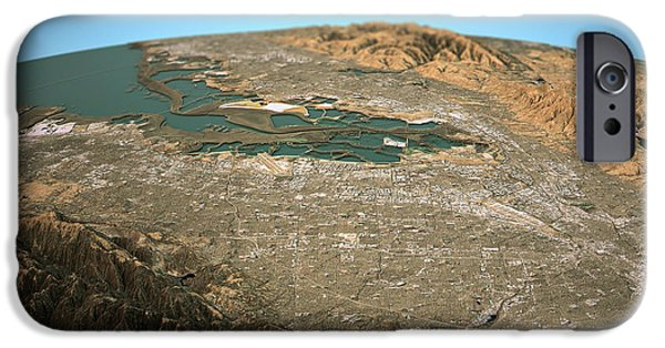 Silicon Valley 3d View Wide Angle Natural Color IPhone Case by Frank Ramspott