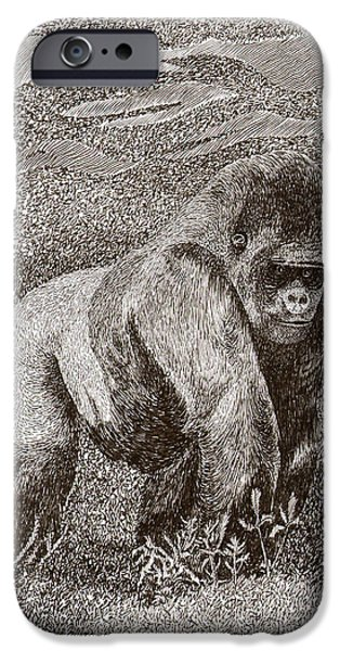 Silver Back Gorilla In The Mist IPhone Case by Jack Pumphrey