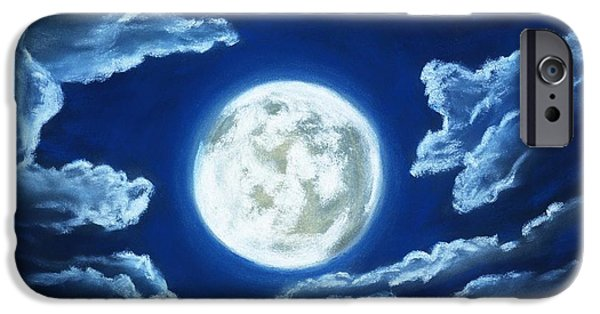 Silver Moon - Sky And Clouds Collection IPhone Case by Anastasiya Malakhova