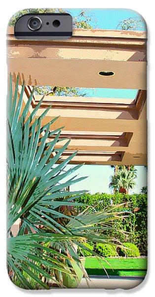Sinatra Patio Palm Springs IPhone Case by William Dey