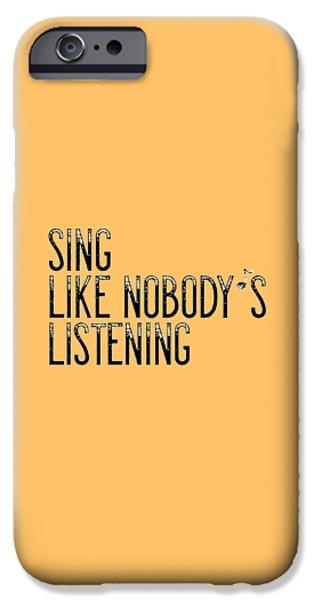 Sing... IPhone Case by Melanie Viola