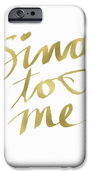 Sing To Me Gold- Art By Linda Woods IPhone Case by Linda Woods