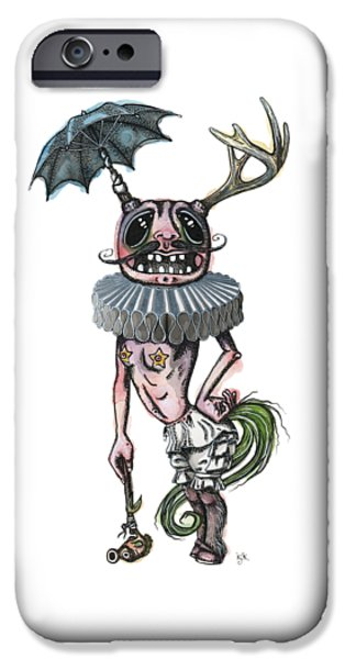 Sir Earnest Picklebottom IPhone Case by Kelly Jade King