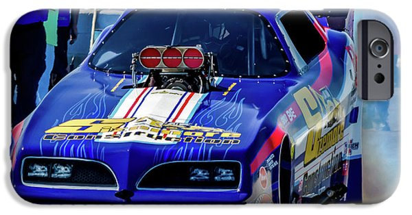 Sizemore Construction Pontiac Funny Car IPhone Case by Bill Gallagher