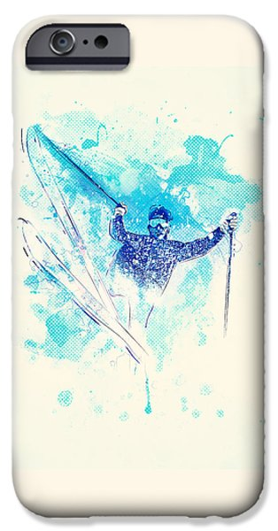 Skiing Down The Hill IPhone 6s Case by Bekare Creative