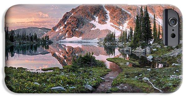Skytop Lake Sunrise IPhone Case by Leland D Howard