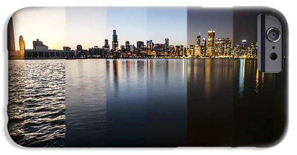 Slices Of The Chicago Skyline IPhone Case by Sven Brogren