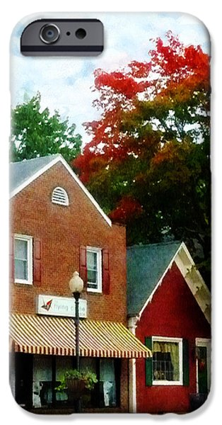 Small Town In Autumn IPhone Case by Susan Savad