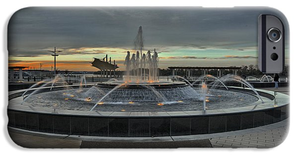 Smothers Park Fountain IPhone Case by Wendell Thompson
