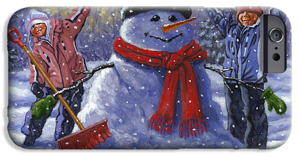 Snow Day IPhone Case by Richard De Wolfe