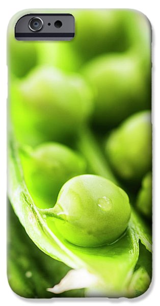 Snow Peas Or Green Peas Seeds IPhone 6s Case by Vishwanath Bhat