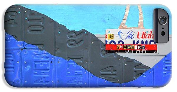 Snowbird Ski Resort Lift Utah License Plate Art IPhone Case by Design Turnpike