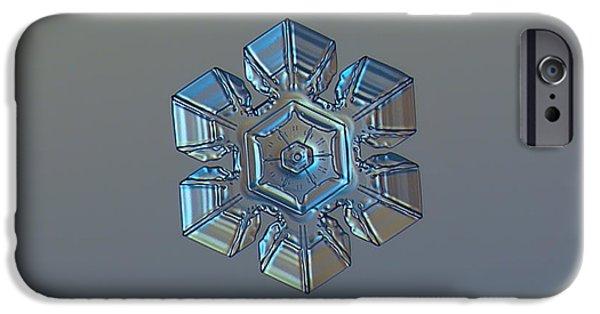 Snowflake Photo - Winter Technologies IPhone 6s Case by Alexey Kljatov