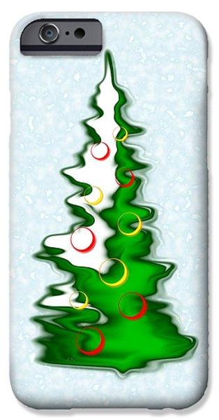 Snowy Christmas Tree IPhone Case by Anastasiya Malakhova