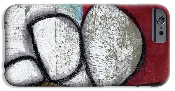 So We Begin- Abstract Art IPhone Case by Linda Woods