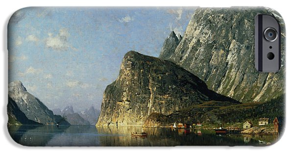 Sogne Fjord Norway  IPhone Case by Adelsteen Normann