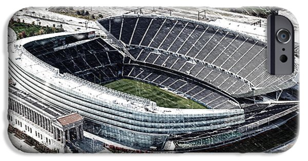 Soldier Field Chicago Sports 06 Pa IPhone Case by Thomas Woolworth