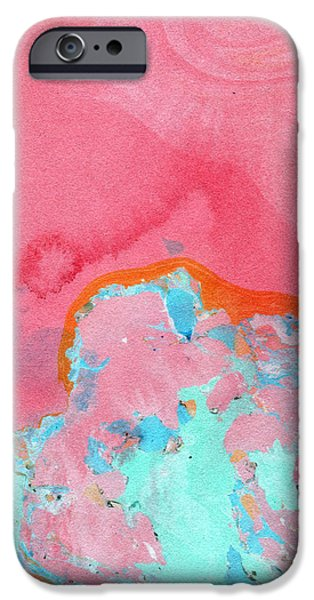 Somewhere New- Abstract Art By Linda Woods IPhone Case by Linda Woods