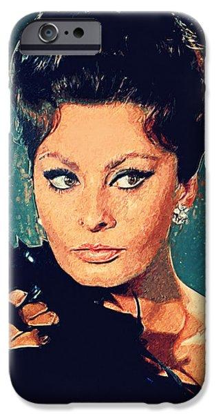 Sophia Loren IPhone 6s Case by Taylan Apukovska