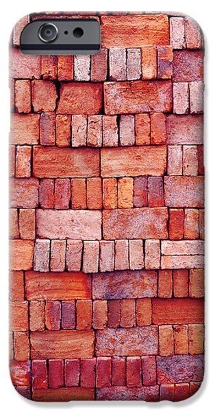 Sorted Red Bricks  IPhone Case by Emir Dayan Mende