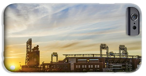South Philly Sunrise - Citizens Bank Park IPhone Case by Bill Cannon