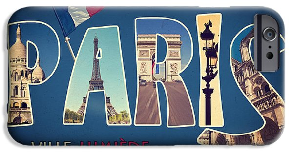 Souvernirs De Paris IPhone Case by Delphimages Photo Creations