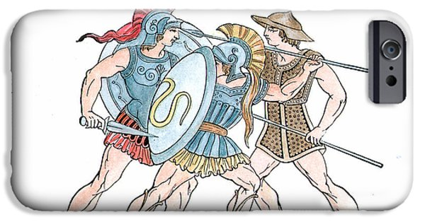 Spartan Military Costumes IPhone Case by Granger