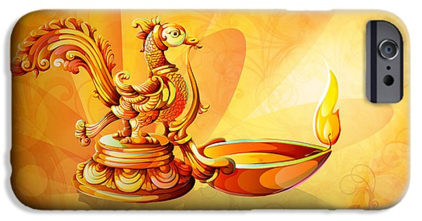 Spirit Of Diwali IPhone Case by Bedros Awak