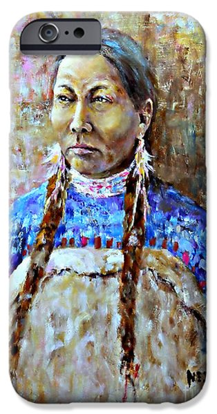 Spirit Of The Lakota IPhone Case by Neil Jones