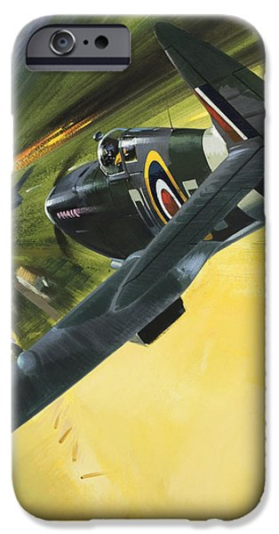 Spitfire And Doodle Bug IPhone 6s Case by Wilf Hardy