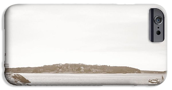 Spring Point Ledge Lighthouse IPhone Case by Victory  Designs