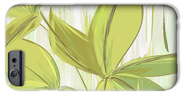Spring Shades - Muted Green Art IPhone 6s Case by Lourry Legarde