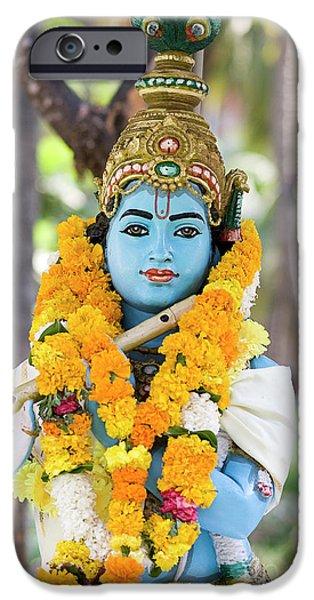 Sri Krishna Jai IPhone Case by Tim Gainey