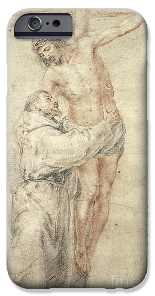 St Francis Rejecting The World And Embracing Christ IPhone Case by Bartolome Esteban Murillo