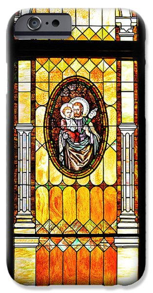 St Joseph Immaculate Conception San Diego IPhone Case by Christine Till